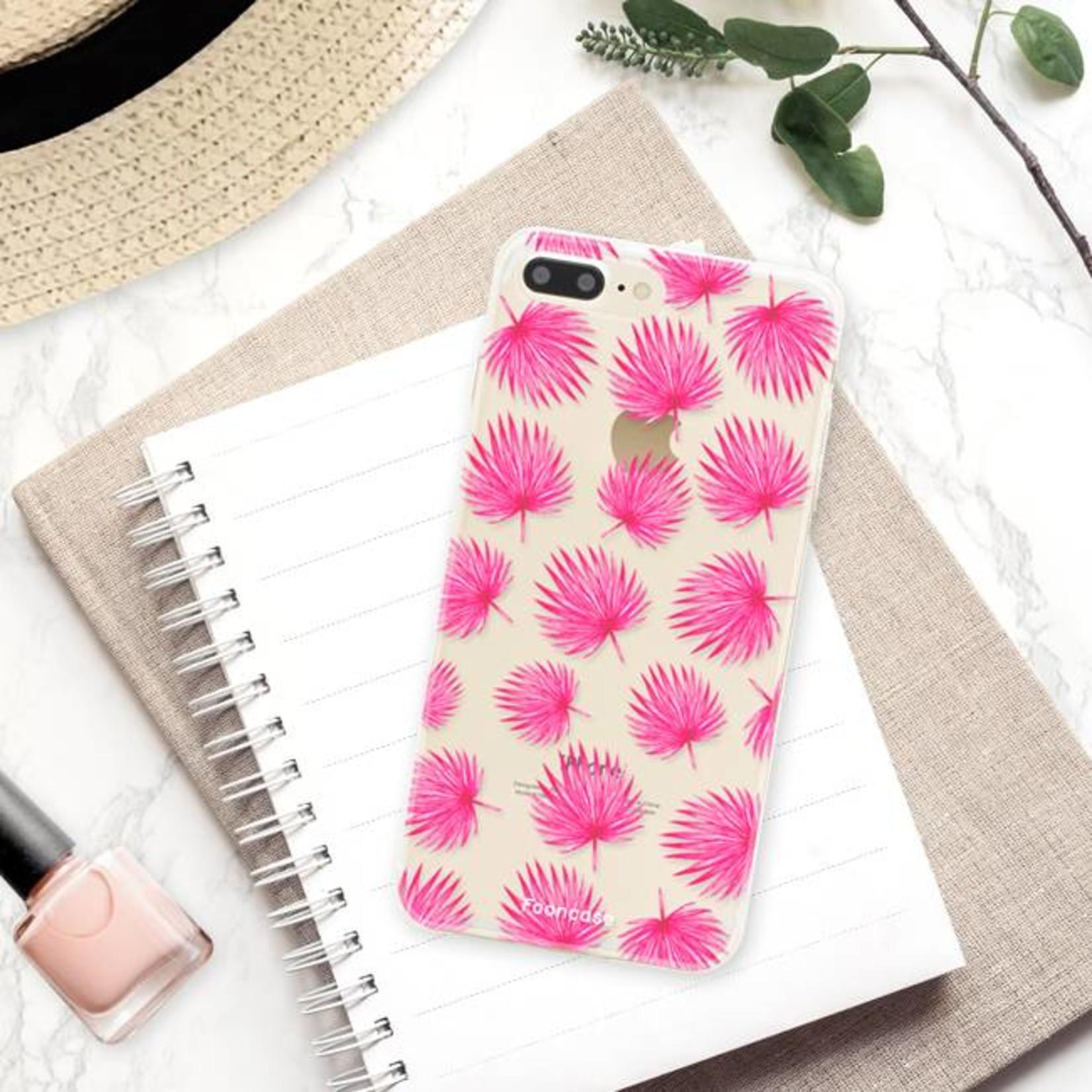 FOONCASE Iphone 7 Plus Handyhülle - Rosa Blätter