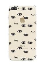 FOONCASE iPhone 7 Plus hoesje TPU Soft Case - Back Cover - Eyes / Ogen