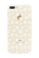 FOONCASE iPhone 7 Plus hoesje TPU Soft Case - Back Cover - Madeliefjes