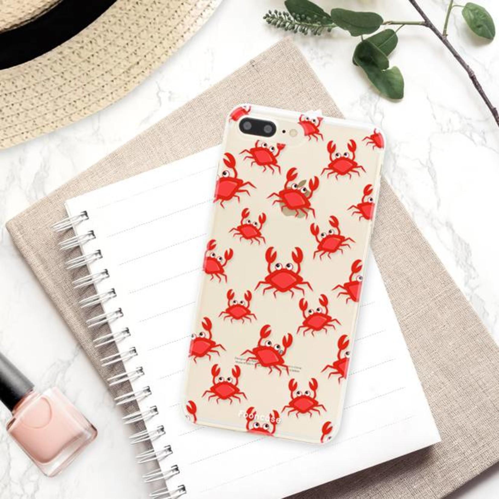 FOONCASE iPhone 7 Plus hoesje TPU Soft Case - Back Cover - Crabs / Krabbetjes / Krabben