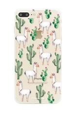 FOONCASE iPhone 7 Plus hoesje TPU Soft Case - Back Cover - Alpaca / Lama
