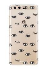 FOONCASE Huawei P10 hoesje TPU Soft Case - Back Cover - Eyes / Ogen