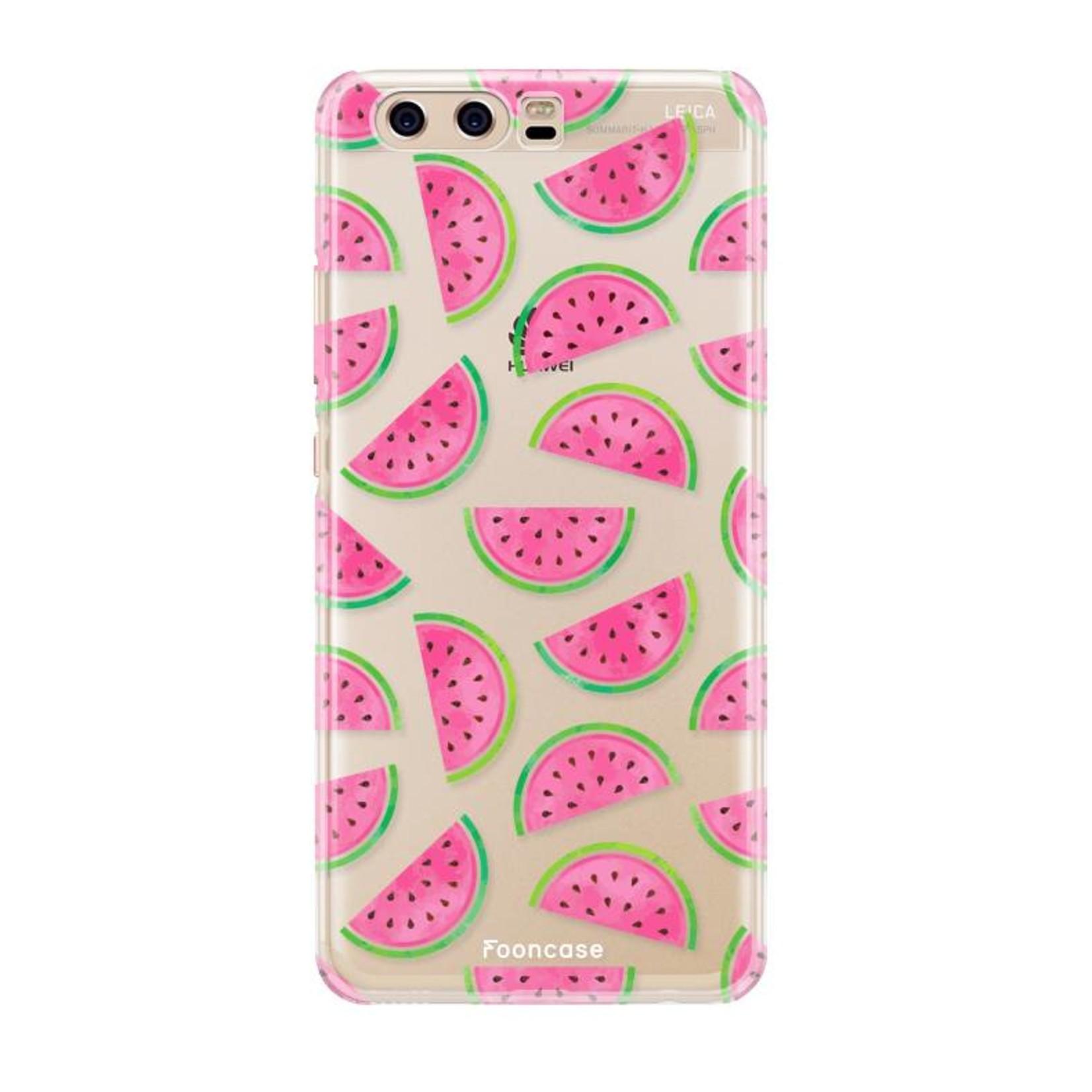 FOONCASE Huawei P10 hoesje TPU Soft Case - Back Cover - Watermeloen