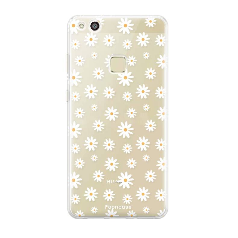 FOONCASE Huawei P10 Lite hoesje TPU Soft Case - Back Cover - Madeliefjes