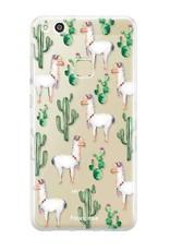FOONCASE Huawei P10 Lite hoesje TPU Soft Case - Back Cover - Alpaca / Lama