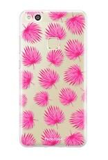 Huawei Huawei P10 Lite hoesje - Pink leaves