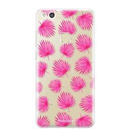 FOONCASE Huawei P10 Lite - Pink leaves