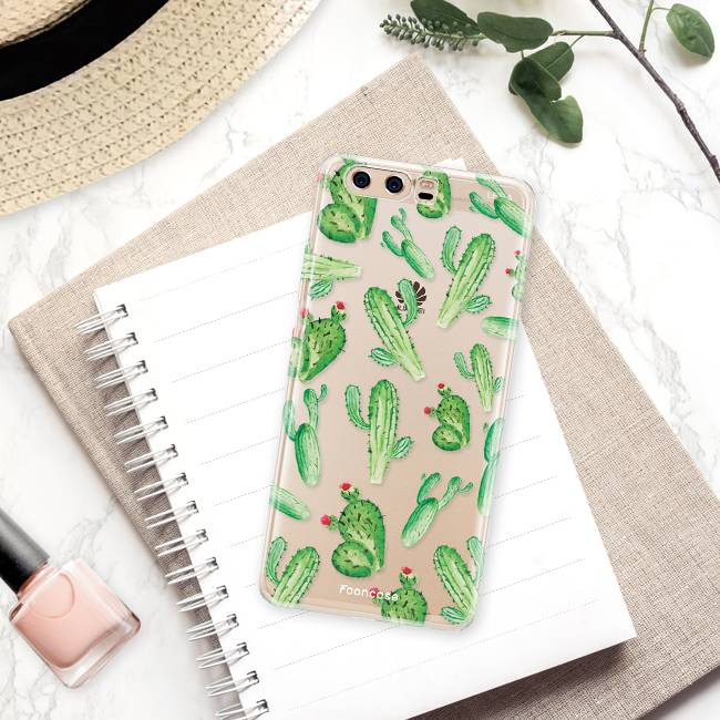 FOONCASE Huawei P10 hoesje TPU Soft Case - Back Cover - Cactus