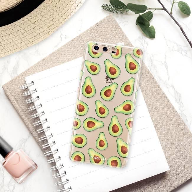 FOONCASE Huawei P10 hoesje TPU Soft Case - Back Cover - Avocado