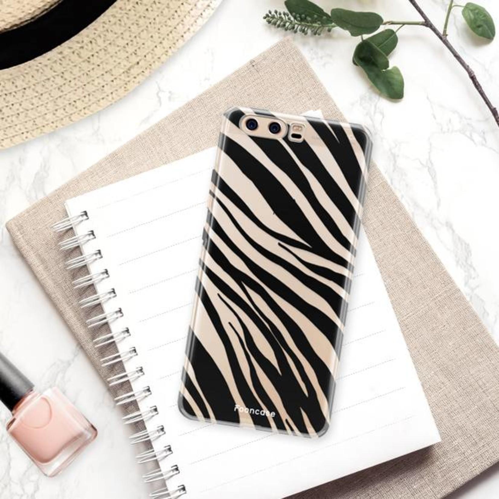 FOONCASE Huawei P10 hoesje TPU Soft Case - Back Cover - Zebra print