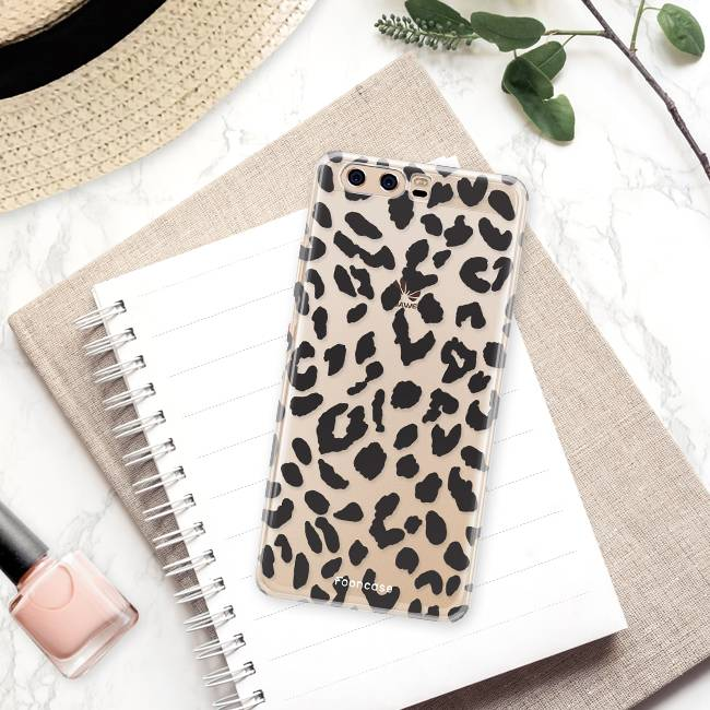 FOONCASE Huawei P10 hoesje TPU Soft Case - Back Cover - Luipaard / Leopard print