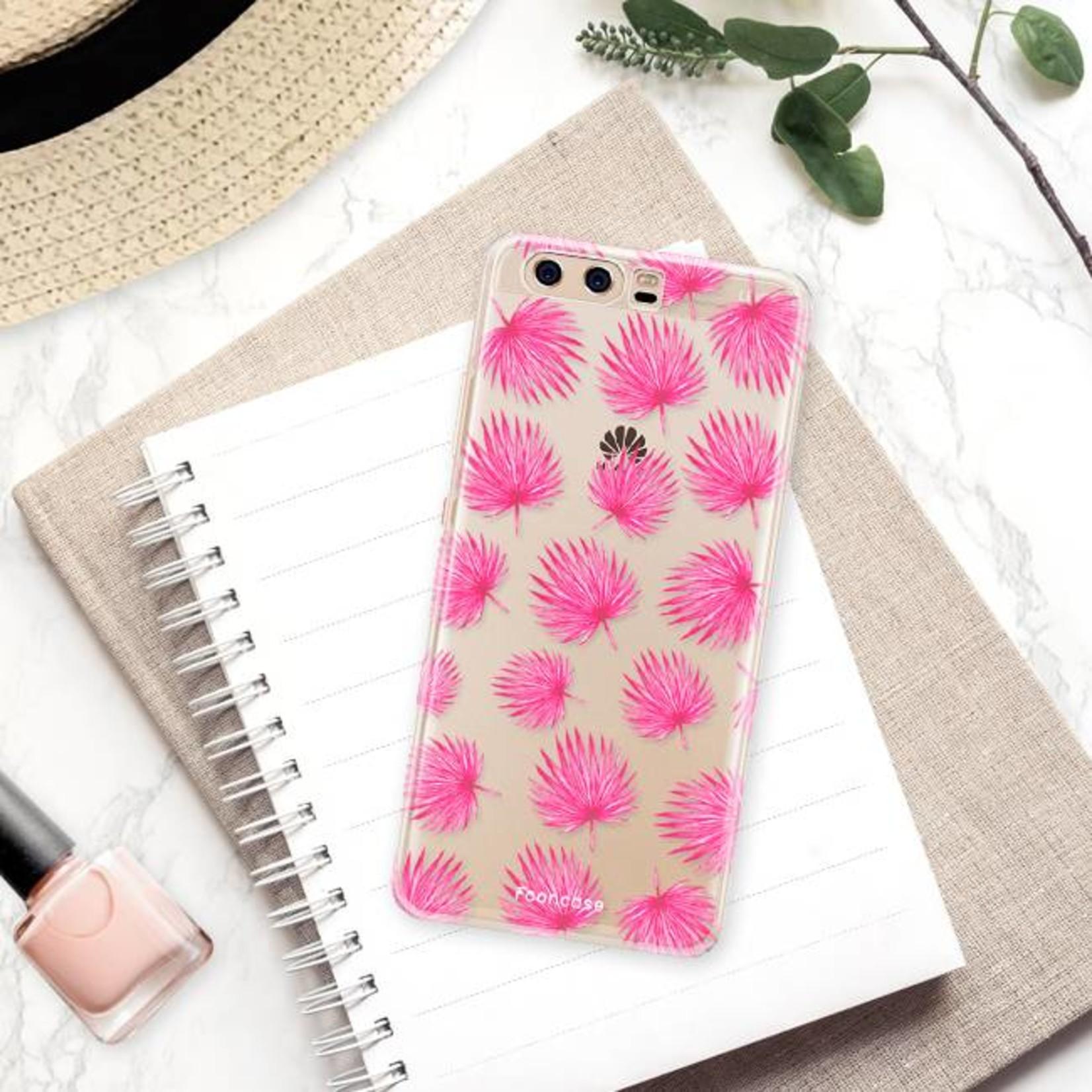FOONCASE Huawei P10 Handyhülle - Rosa Blätter