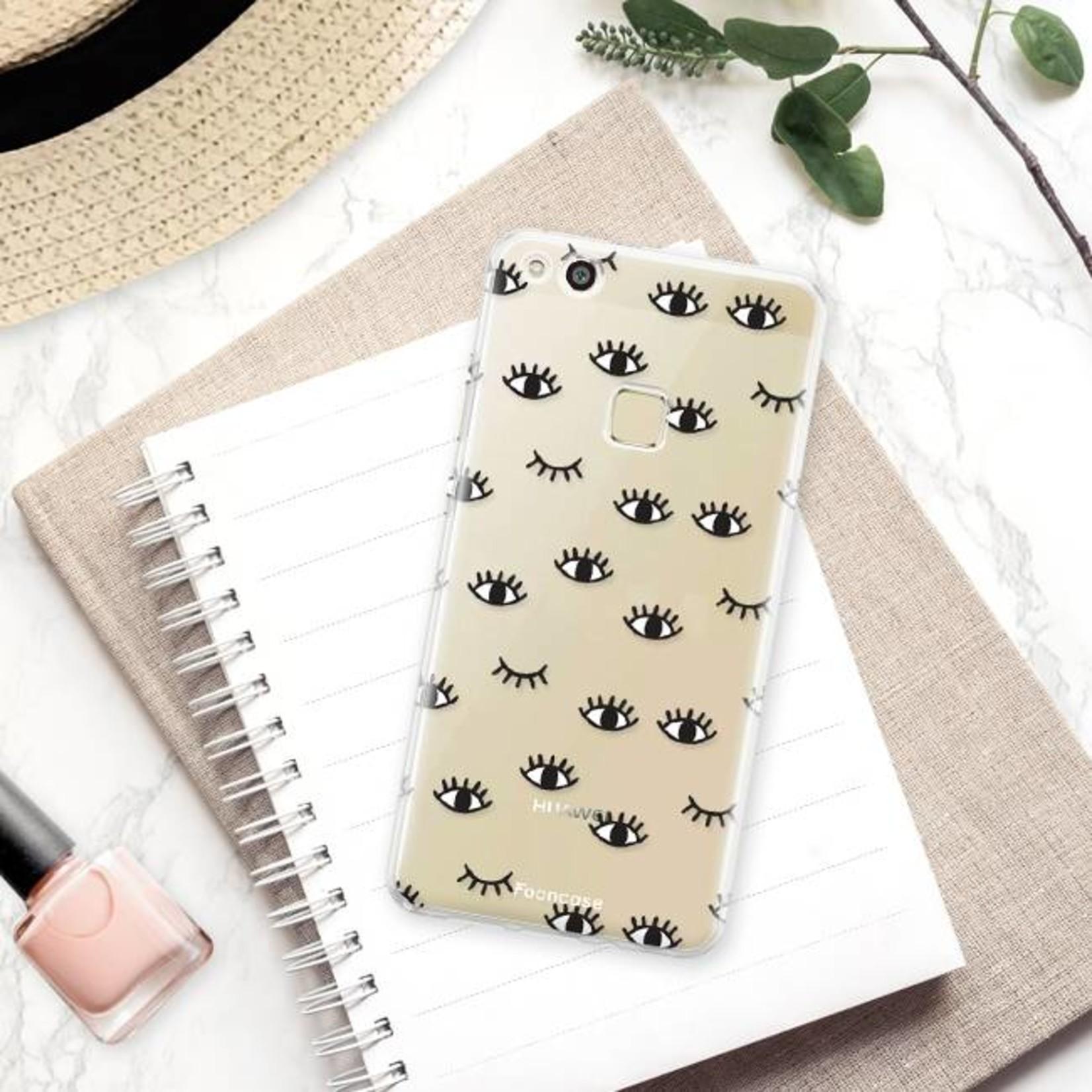 FOONCASE Huawei P10 Lite hoesje TPU Soft Case - Back Cover - Eyes / Ogen