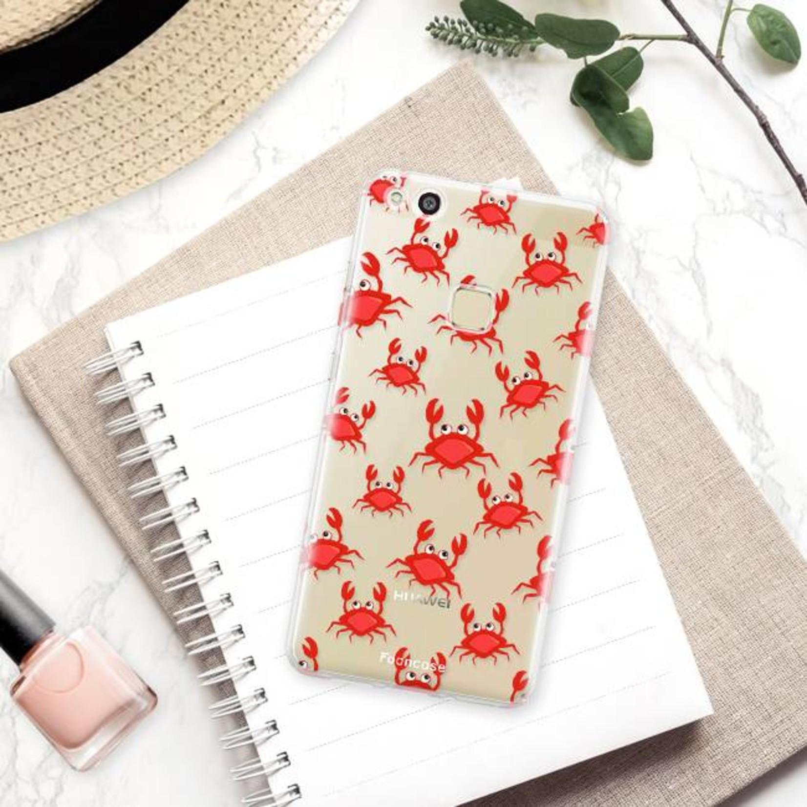 FOONCASE Huawei P10 Lite hoesje TPU Soft Case - Back Cover - Crabs / Krabbetjes / Krabben