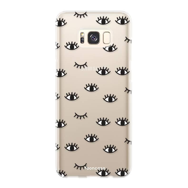 FOONCASE Samsung Galaxy S8 hoesje TPU Soft Case - Back Cover - Eyes / Ogen