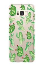 FOONCASE Samsung Galaxy S8 hoesje TPU Soft Case - Back Cover - Cactus