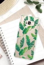 FOONCASE Samsung Galaxy S8 hoesje TPU Soft Case - Back Cover - Banana leaves / Bananen bladeren