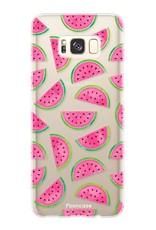 FOONCASE Samsung Galaxy S8 hoesje TPU Soft Case - Back Cover -  Watermeloen