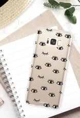 FOONCASE Samsung Galaxy S8 Plus hoesje TPU Soft Case - Back Cover - Eyes / Ogen