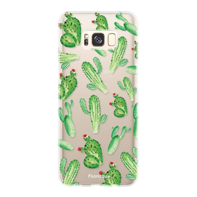 FOONCASE Samsung Galaxy S8 Plus hoesje TPU Soft Case - Back Cover - Cactus