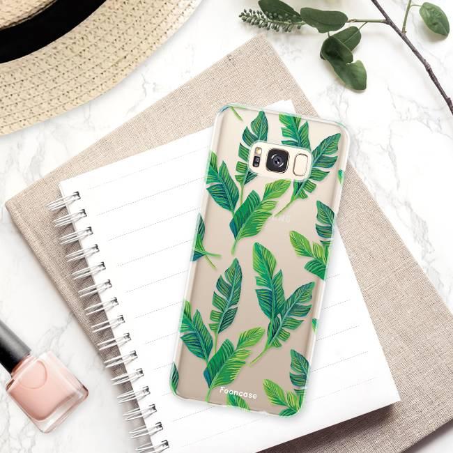 FOONCASE Samsung Galaxy S8 Plus hoesje TPU Soft Case - Back Cover - Banana leaves / Bananen bladeren