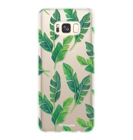 FOONCASE Samsung Galaxy S8 Plus - Banana leaves