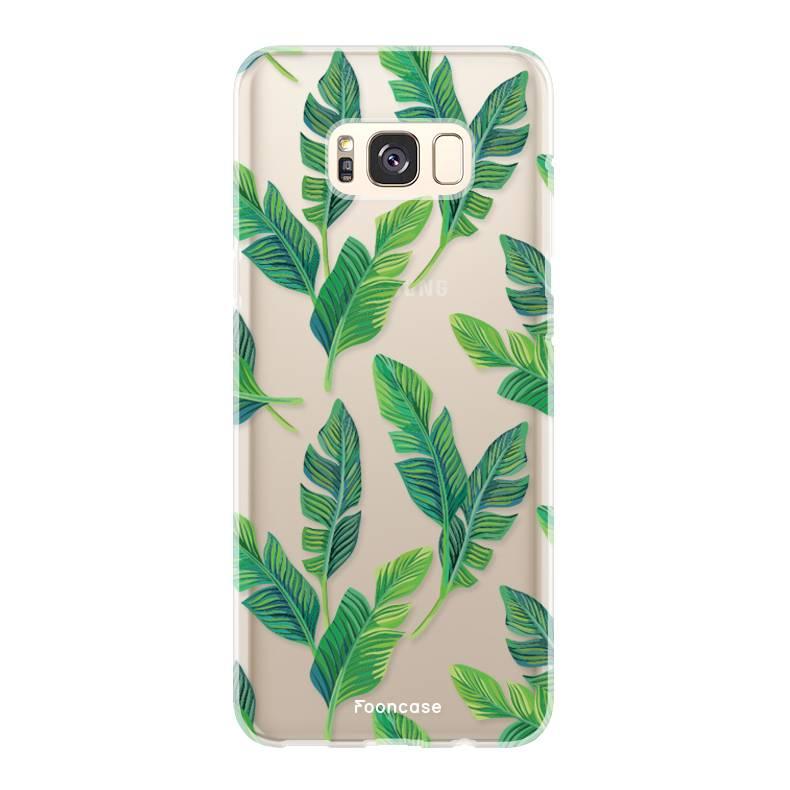 FOONCASE Samsung Galaxy S8 Plus Handyhülle - Bananenblätter