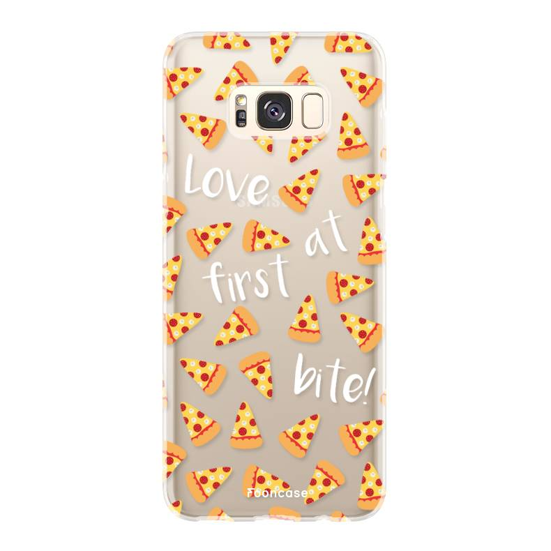 FOONCASE Samsung Galaxy S8 Plus hoesje TPU Soft Case - Back Cover - Pizza / Food