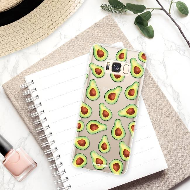 FOONCASE Samsung Galaxy S8 Plus hoesje TPU Soft Case - Back Cover - Avocado
