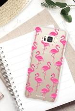 FOONCASE Samsung Galaxy S8 Plus hoesje TPU Soft Case - Back Cover - Flamingo