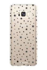 FOONCASE Samsung Galaxy S8 Plus hoesje TPU Soft Case - Back Cover - Stars / Sterretjes