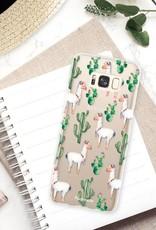 FOONCASE Samsung Galaxy S8 Plus hoesje TPU Soft Case - Back Cover - Alpaca / Lama