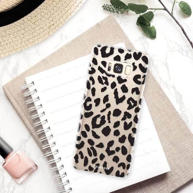 FOONCASE Samsung Galaxy S8 Plus hoesje TPU Soft Case - Back Cover - Luipaard / Leopard print