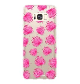 FOONCASE Samsung Galaxy S8 Plus - Pink leaves