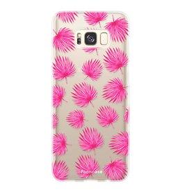 FOONCASE Samsung Galaxy S8 Plus - Rosa Blätter