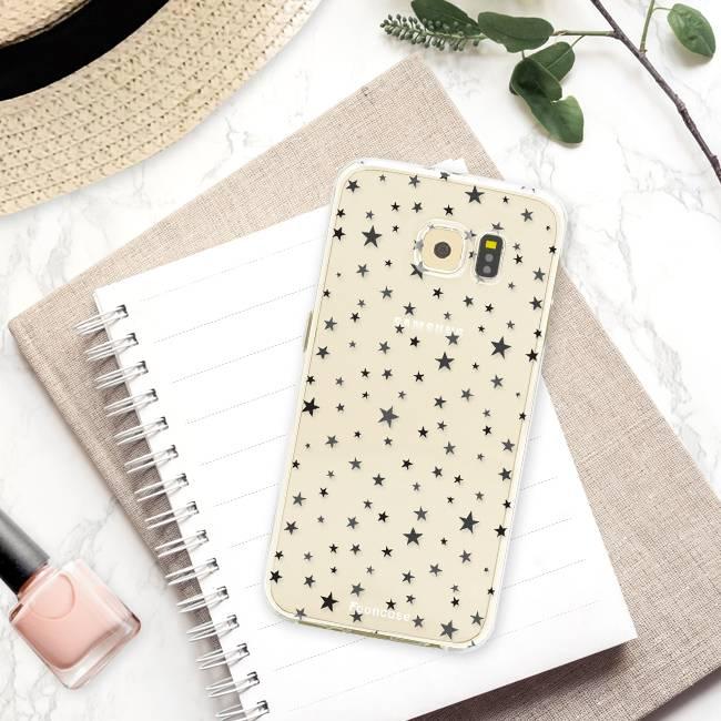 FOONCASE Samsung Galaxy S6 hoesje TPU Soft Case - Back Cover - Stars / Sterretjes