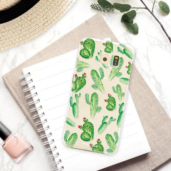 FOONCASE Samsung Galaxy S6 hoesje TPU Soft Case - Back Cover - Cactus