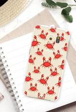 FOONCASE Samsung Galaxy S6 hoesje TPU Soft Case - Back Cover - Crabs / Krabbetjes / Krabben