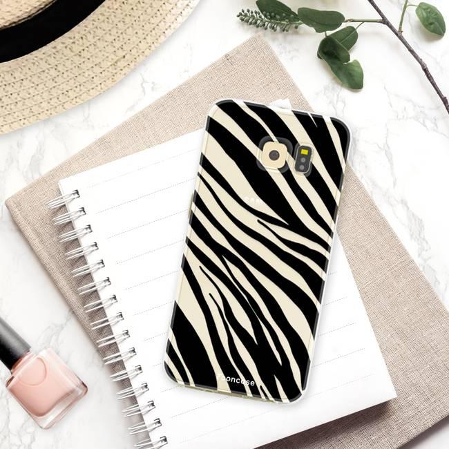 FOONCASE Samsung Galaxy S6 Edge hoesje TPU Soft Case - Back Cover - Zebra print