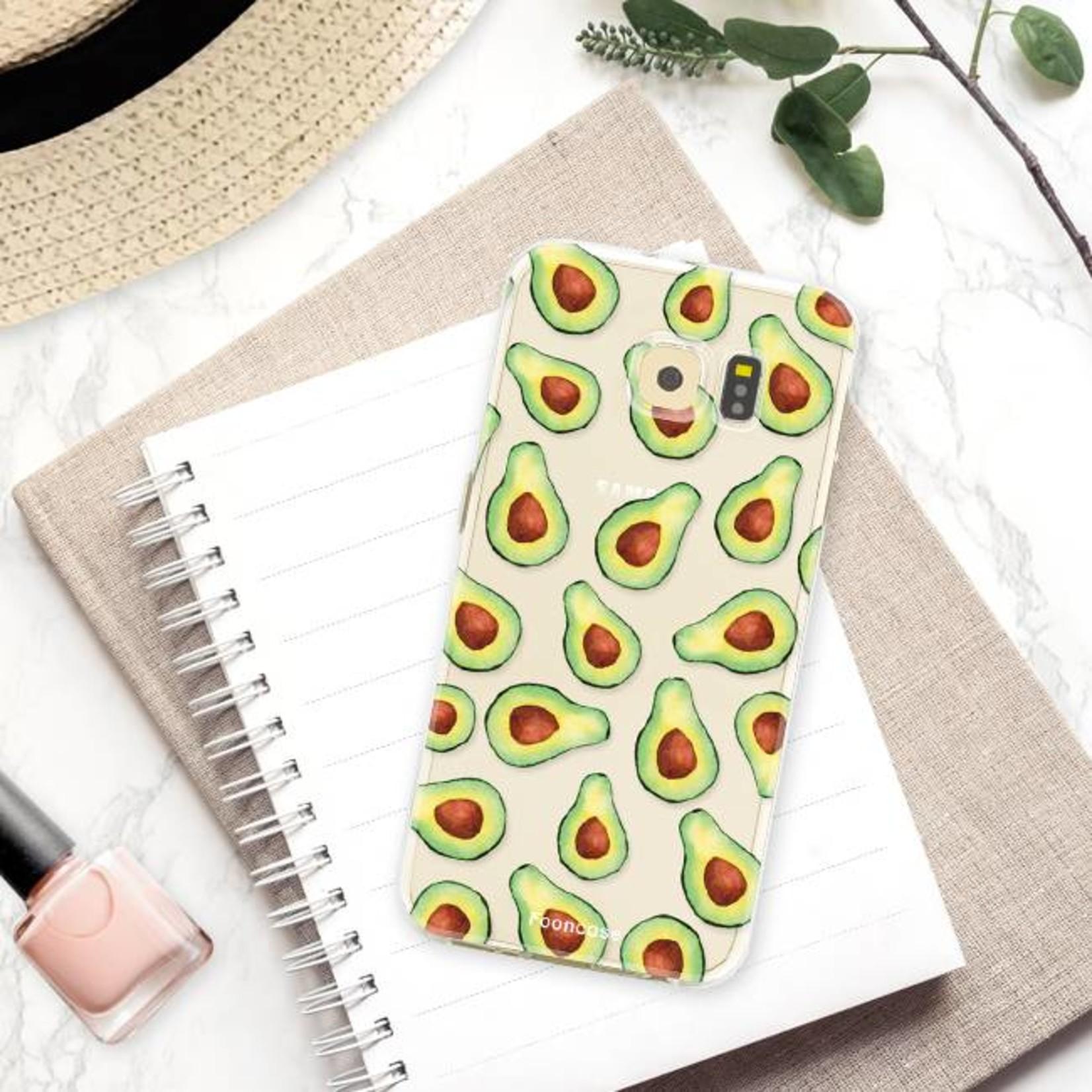 FOONCASE Samsung Galaxy S6 Edge hoesje TPU Soft Case - Back Cover -  Avocado