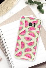 FOONCASE Samsung Galaxy S7 Edge hoesje TPU Soft Case - Back Cover - Watermeloen