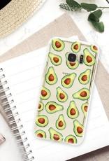 FOONCASE Samsung Galaxy S7 Edge hoesje TPU Soft Case - Back Cover - Avocado