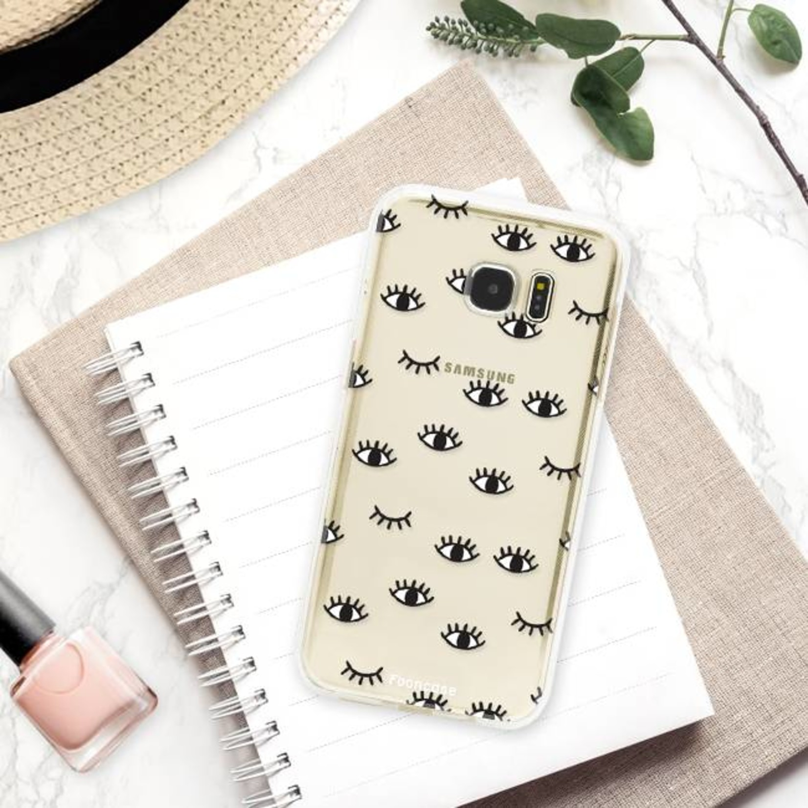 FOONCASE Samsung Galaxy S7 Edge Handyhülle - Eyes