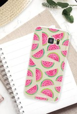 FOONCASE Samsung Galaxy S7 hoesje TPU Soft Case - Back Cover - Watermeloen