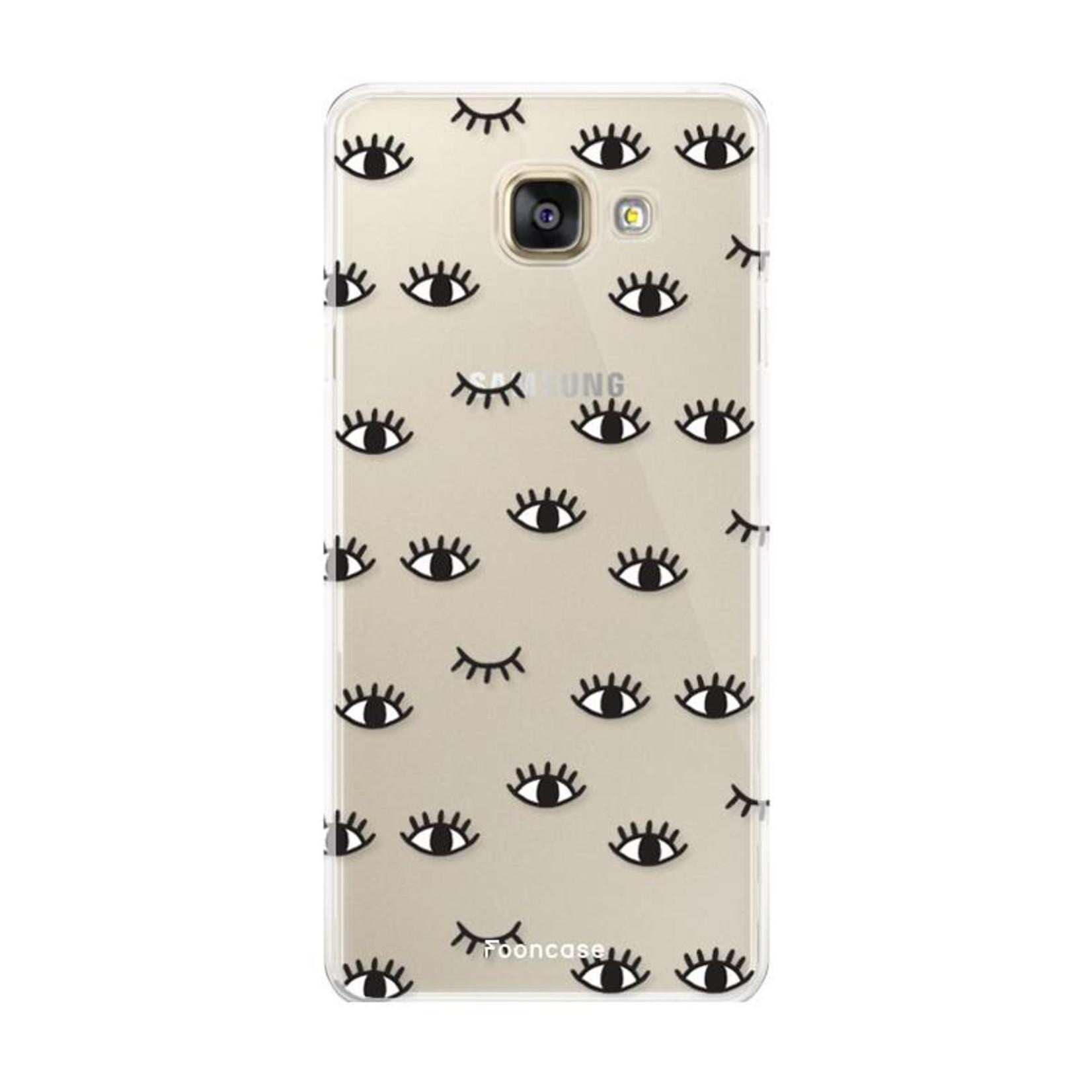 FOONCASE Samsung Galaxy A3 2016 hoesje TPU Soft Case - Back Cover - Eyes / Ogen