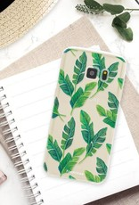 FOONCASE Samsung Galaxy S7 hoesje TPU Soft Case - Back Cover - Banana leaves / Bananen bladeren