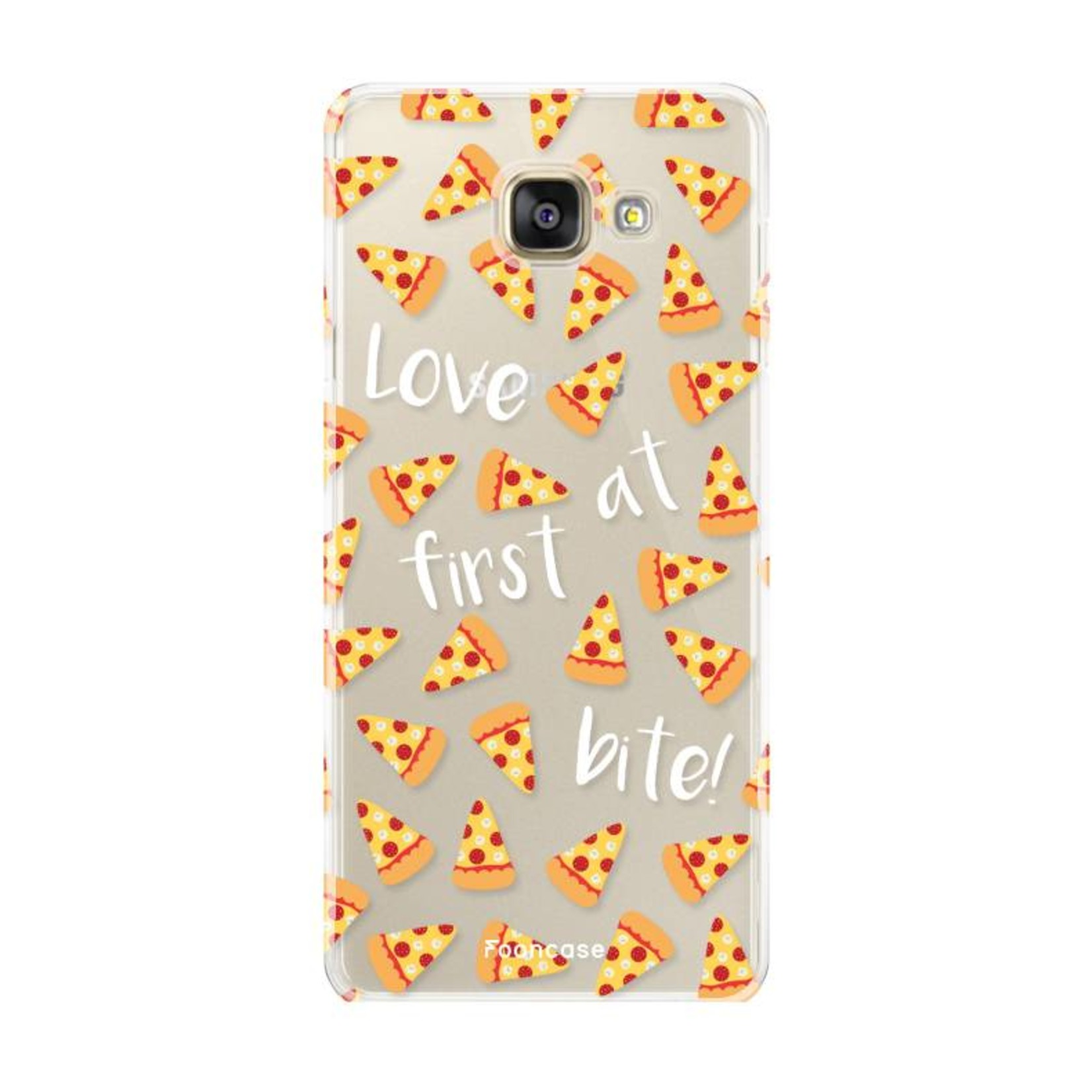 FOONCASE Samsung Galaxy A3 2016 hoesje TPU Soft Case - Back Cover - Pizza / Food