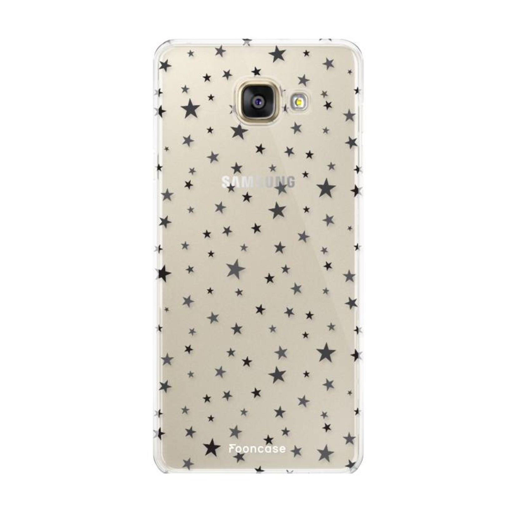 FOONCASE Samsung Galaxy A3 2016 hoesje TPU Soft Case - Back Cover - Stars / Sterretjes