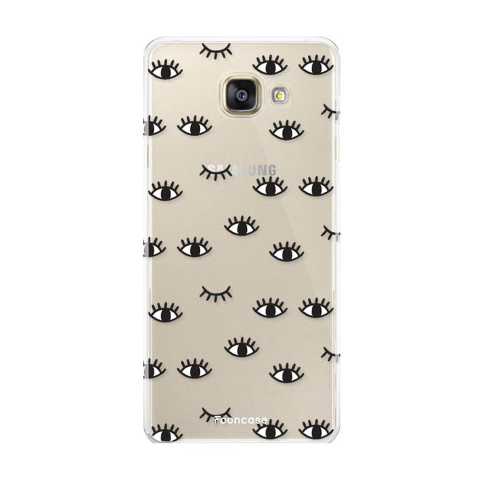 FOONCASE Samsung Galaxy A3 2017 hoesje TPU Soft Case - Back Cover - Eyes / Ogen