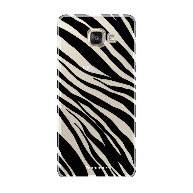 FOONCASE Samsung Galaxy A3 2016 hoesje TPU Soft Case - Back Cover - Zebra print